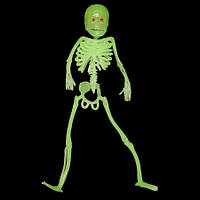 Скелет резиновый 18см светонакопительный