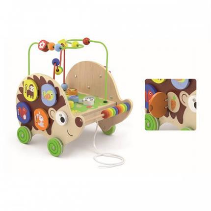 Ежик 4 в 1 деревянная игрушка-каталка Viga Toys (50012), фото 2