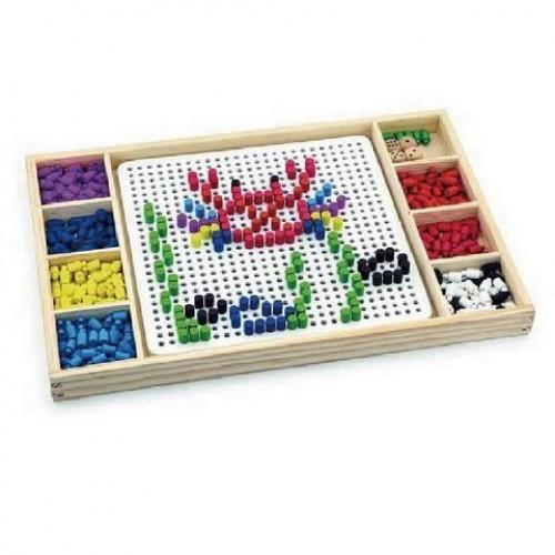 Мозаика и лудо. Игра Viga Toys 2-в-1 (59990)