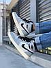 """Баскетбольные кроссовки в стилеNike Air Jordan 1 Retro """"Black/Gray"""" ( в стиле Найк ), фото 5"""