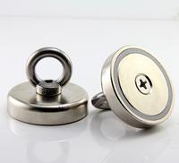 Неодимовый магнит крепежный: Диск D42 в корпусе с кольцом (32 кг)