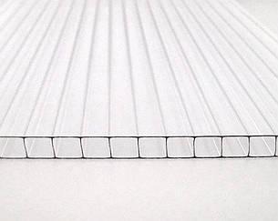 Сотовый поликарбонат ТМ Oscar 10мм прозрачный 2100х6000мм