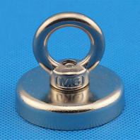 Неодимовый магнит крепежный: Диск D48 в корпусе с кольцом (52 кг)