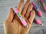 Ручка Прикольная Дисней 4-х цветная 555А Брелок, фото 2