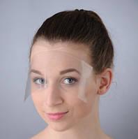 Маска для защиты лица, парикмахерская прозрачная пластиковая (25 шт в упаковке)