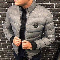 Куртка мужская Philipp Plein P0111 серая