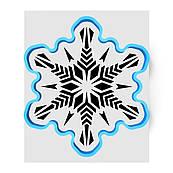 Сніжинка велика-8 вирубка з трафаретом 12 см (TR-1)