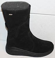 Сапоги черные женские зимние замшевые от производителя модель БМ301-1, фото 1