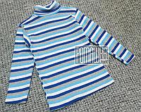 Тёплый с начёсом на флисе р 116 5-6 лет детский гольф гольфик водолазка для мальчика РУБЧИК 4902 Синий