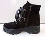 Ботинки женские зима на толстой подошве из натуральной замши от производителя модель ДИС777, фото 2
