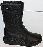 Сапоги черные женские зимние кожаные от производителя модель БМ301-2, фото 1