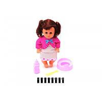 Кукла с волосами,горшок,бутылочка,расческа, Лялька з аксесуарами 6622-83/85