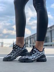 "Женские кроссовки Dior D-Connect ""Black/White"" ( В стиле Диор )"