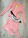 Женский спортивный костюм Милана на весну/осень ткань трикотажL-ка персиковый, фото 5