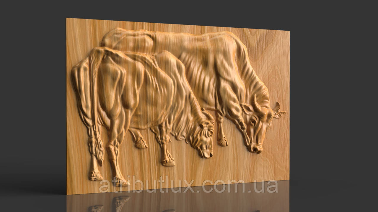 Панно Два буйвола