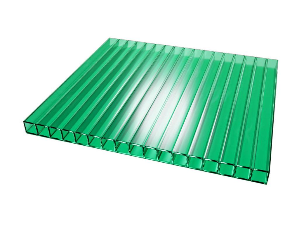 Сотовый поликарбонат ТМ Oscar  10мм зеленый 2100х6000мм