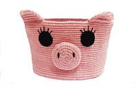 Декоративная корзинка для мелочей Свинка
