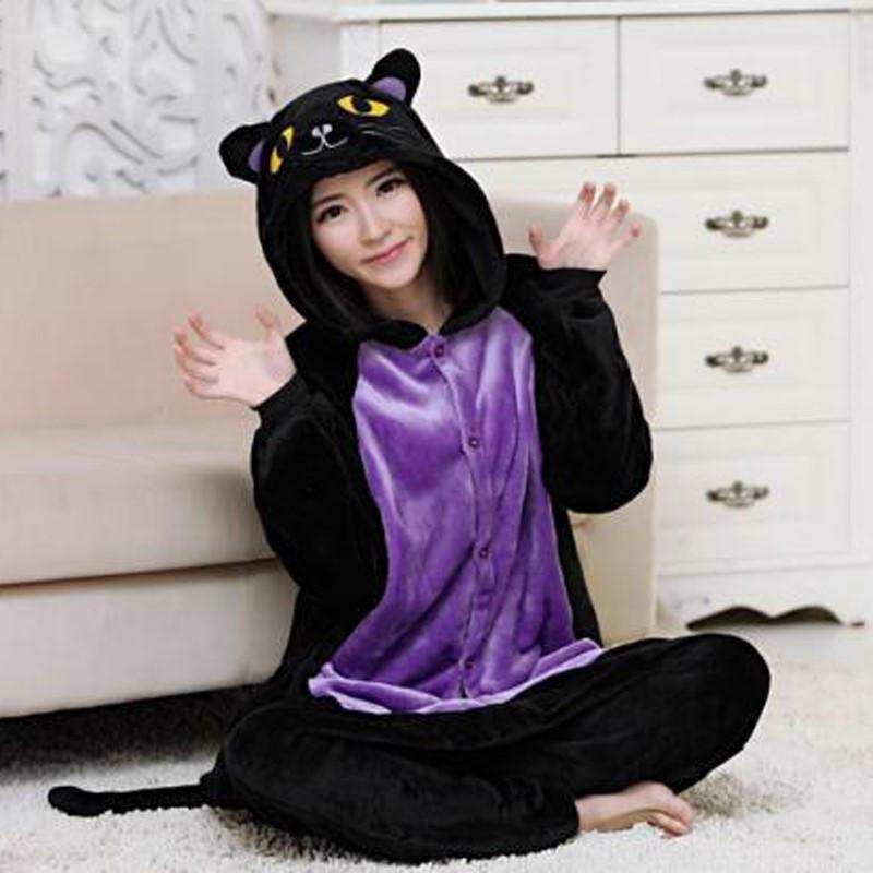 Взрослый костюм кигуруми черная кошка (spooky cat) kig0078