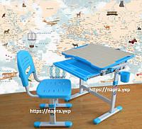Комплект детская парта и стул, трансформеры  3 цвета, фото 1