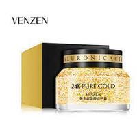 Восстанавливающий крем-гель для лица с коллоидным золотом Venzen 24K Gold Skin Care, 50 г