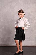 Школьная юбка для девочки Школьная форма для девочек Blue Whale бантики