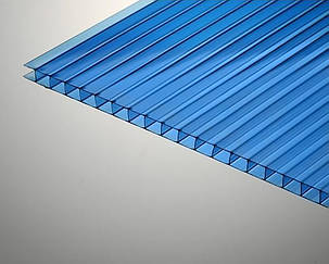 Сотовый поликарбонат ТМ Oscar 10мм синий 2100х6000мм