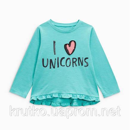 Кофта для девочки I love unicorns Jumping Beans, фото 2