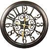 Большие оригинальные  настенные часы под бронзу (51 см.)