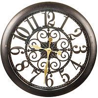 Большие оригинальные  настенные часы под бронзу (51 см.), фото 1