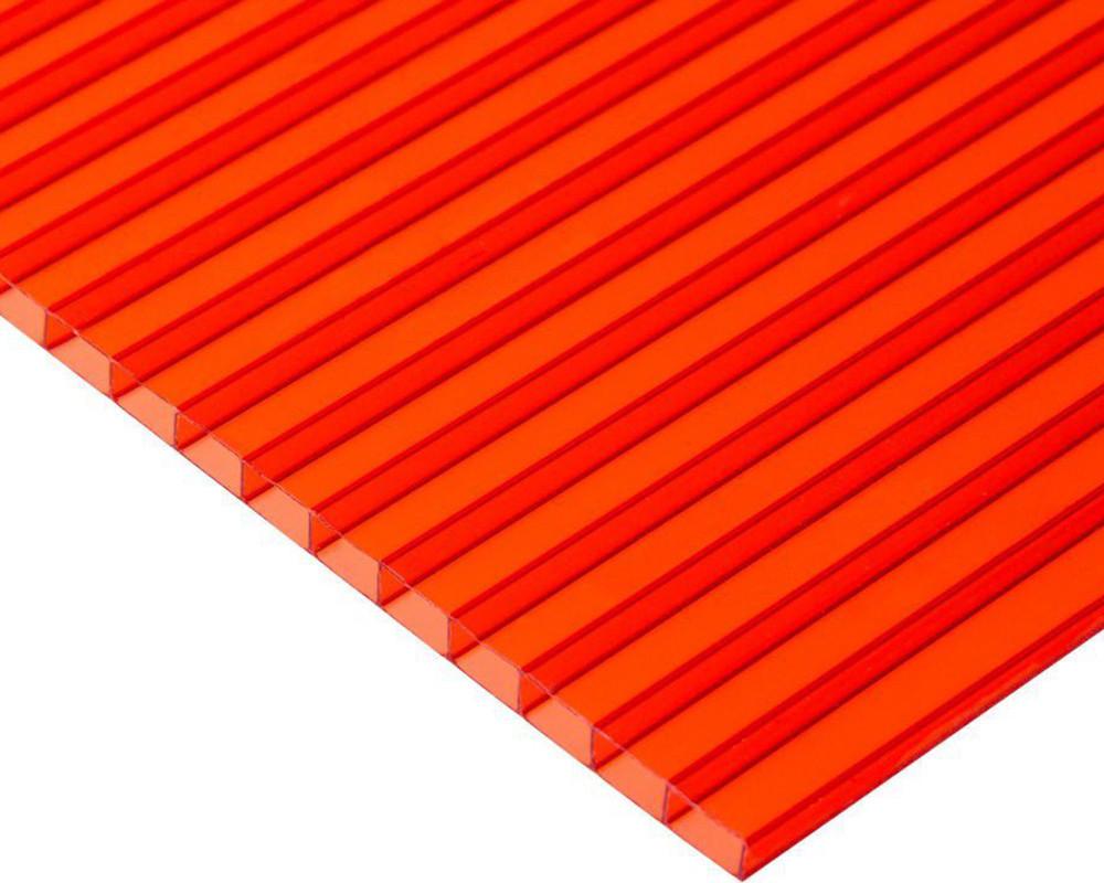 Сотовый поликарбонат Oscar 10мм красный 2100х6000мм