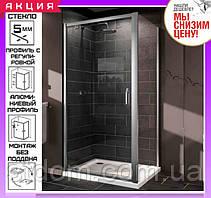 Прямоугольная душевая кабина 100х80 см дверь распашная Huppe X1 стекло прозрачное