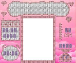Алмазна вишивка АВ 4034 Метрика для дівчинки (часткова зашивання)