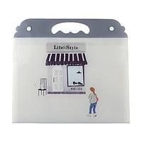 Папка-портфель А4, пластиковый, на кнопках, 7 отделений 9922-1307