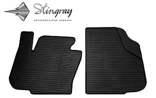 Skoda Superb  2013- Комплект из 2-х ковриков Черный в салон