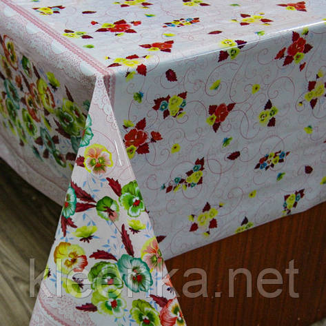 Клеенка силиконовая кухонная с цветочным узором, фото 2