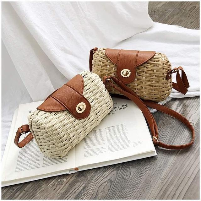 Соломенная мини сумочка