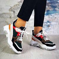 Женские кроссовки комбинированного цвета, натуральная кожа+замша+обувной текстиль (сетка) 37 38 П.Р.