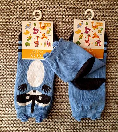 Носочки детские голубого цвета Енот ТМ Легка хода  (Украина)  размер 10 12 (12 месяцев), фото 2