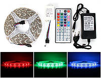 ✅RGB светодиодная лента влагозащищенная комплект (набор) с пультом управления RGB LED strip 5050 SMD 5м