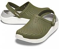 Мужские кроксы хаки, сабо Crocs LiteRide оригинал