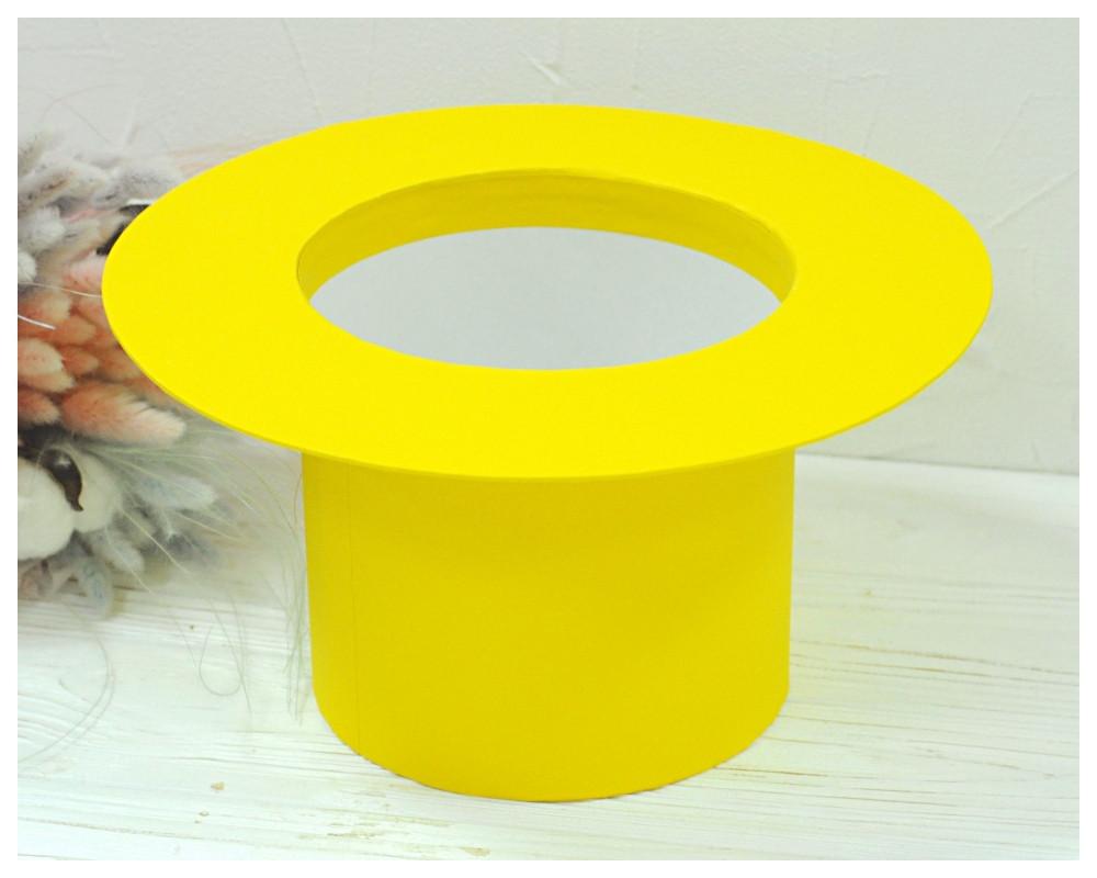 "Круглая коробка ""Шляпа"" d= 16 h=15 см"