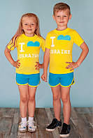 Р-р 80-134, костюм, комплект детский шорты, футболка
