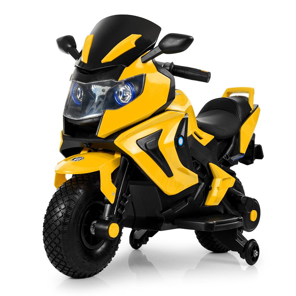 Электромобиль мотоцикл M 3681AL-6 желтый BAMBI