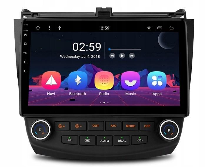 Штатная магнитола 2DIN Android 9 для Honda Accord Wi-fi 16Gb/2Gb