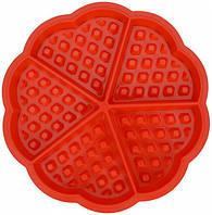 Силиконовая форма для выпечки вафель Сердце (HT592)