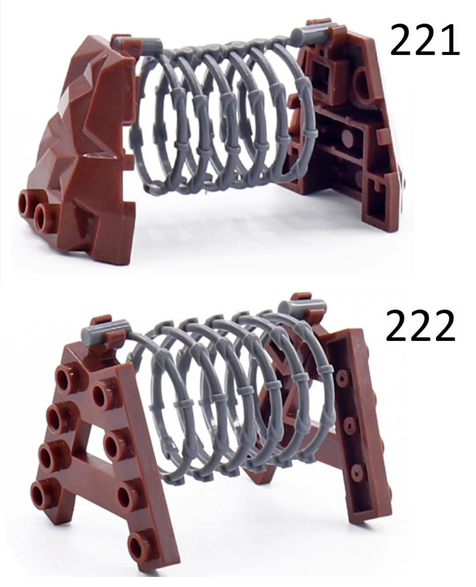Оружие для фигурок Lego Лего препятствие с колючей проволокой