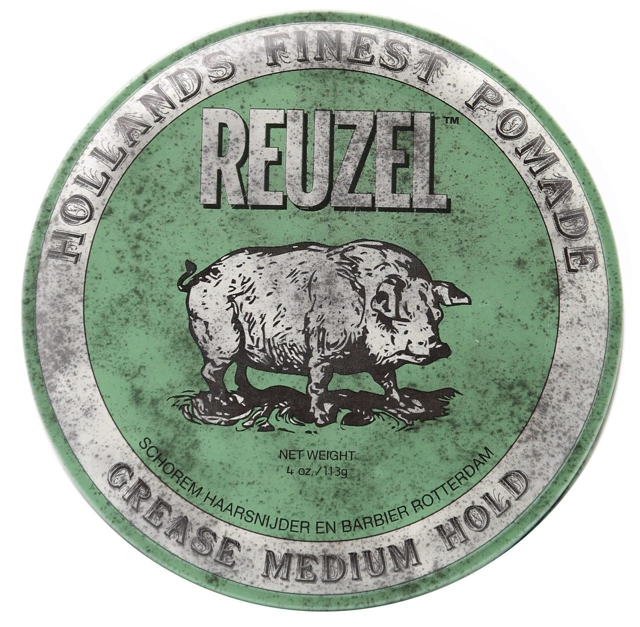 Помада для волос Reuzel Green Medium Hold Grease 113 г.