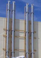 Фасадные дымовые трубы, фото 1