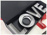 Коробка футляр с буквами Love 62*22*10 см черная