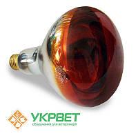Инфракрасная лампа 175 Вт для обогрева животных, тонкое стекло с напылением, Bongbada